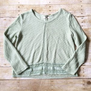  ya Los Angeles light green sweater top