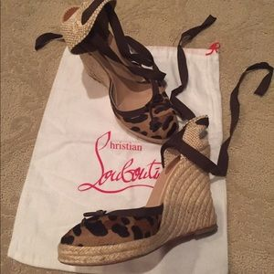 Christian Louboutin Shoes - Christian louboutin leopard espadrille wedges