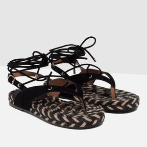 Final Price Drop! Zara Lace-Up Sandals (8)