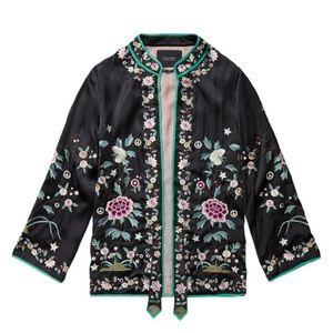 Scotch & Soda Silk Embroidered Jacket