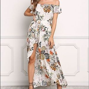 760b230dee7a Free People Pants - Off shoulder romper maxi dress boho chic