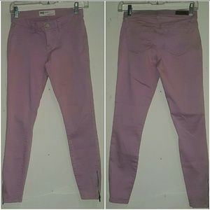 Tilly's Pants - Purple Ankle Pants With Zipper