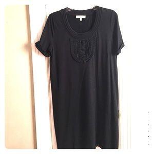 See by Chloe Black Cotton T-Shirt Dress