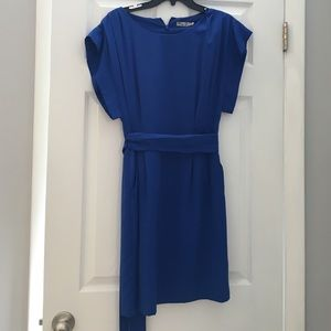 Eliza J Dresses & Skirts - Eliza J blue dress with belt tie. Size 6