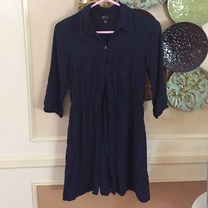 BCX Dresses & Skirts - Blue button down dress