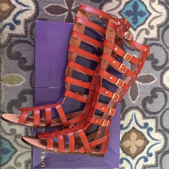 5200a9ba09ea Madden Girl Shoes - Penna Tall Shaft Gladiator Sandals