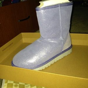 Blue glitter / sparkle uggs women's 6