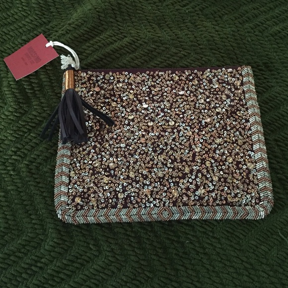 Mossimo Supply Co. Handbags - Super cute for fall!  Tassel beaded clutch