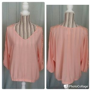 Tops - Plus Size Peach Top