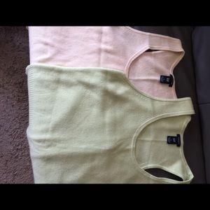 100% Cashmere sweater vests
