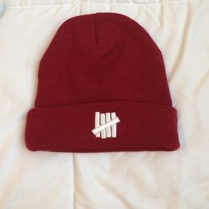 Undefeated Accessories - Undefeated Dark Red Beanie