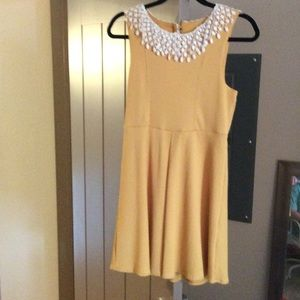 Mustard yellow free people dress