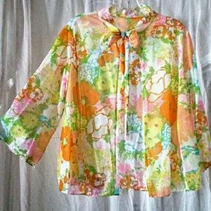 Other - Vtg. Mod Floral Bed Jacket