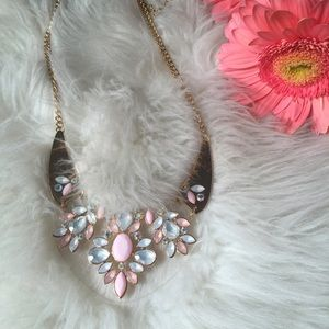 ASOS Jewelry - Pink & Gold Lucite Statement Necklace