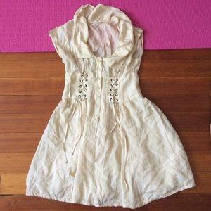 Nanette Lepore Dresses & Skirts - Nanette lepore lace up dress kawaii tan cute