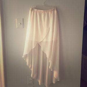 High-Low Blush Skirt