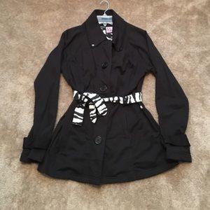 Sweatshirt Material Zebra Trench
