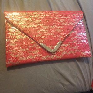 Envelope style clutch purse