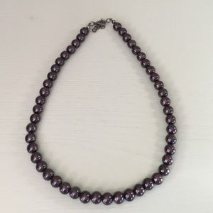 Dark Purple Pearl Necklace