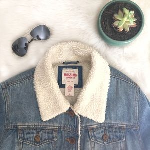 Mossimo Supply Co. Jackets & Blazers - Faux Shearling Denim Jacket