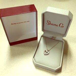 Shane and Co 1/2 carat diamond heart pendant