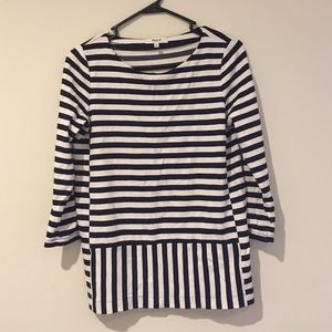 Madewell Striped 3/4-length Shirt - Small