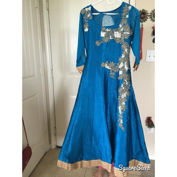 Dresses Royal Blue Indian Dress Poshmark
