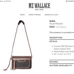MZ Wallace Handbags - 🎉HP🎉MZW cross-body clutch TYROL, RARE. RETIRED.