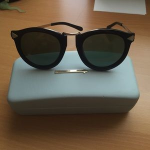 Karen Walker Harvest Black and Gold Sunglasses