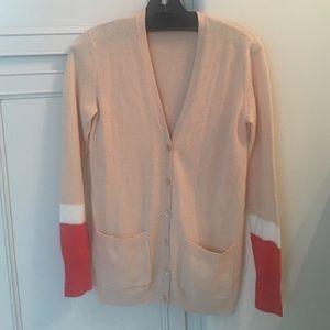 Equipment cashmere colorblocked cardigan