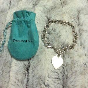 Tiffany & Co. Heart charm bracelet.