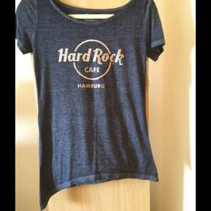 Hard Rock cafe Tops - New Hard Rock Cafe asymmetrical Sz S shirt 530a697148c