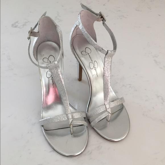 d2f86b5861b6a6 Jessica Simpson silver heels. NWOB NWT