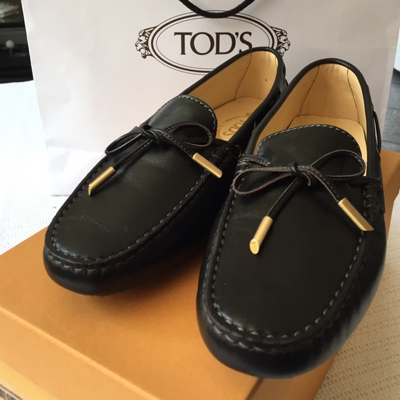 Tod's Black Heaven Laccetto leather loafers