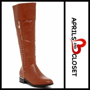 Boutique Shoes - ❗️1-HOUR SALE❗️BOOTS Tall Studded Riding Boots