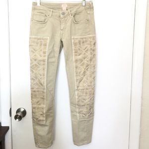 H&M embroidered skinny jeans size 6