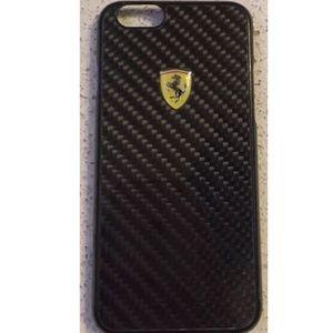 separation shoes 6f1d4 a7360 Ferrari carbon fiber iphone 6 6s phone case cover