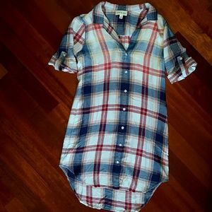 4720fa51860 Anthropologie Dresses - NEW Cloth   Stone Plaid Shirt Dress Tunic