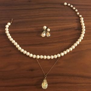 Jewelry - Antique choker necklace with matching earrings