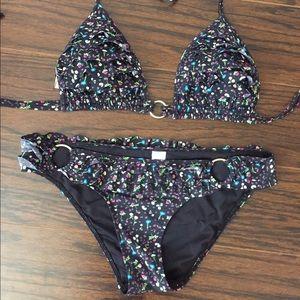 Victoria's Secret PINK Floral Ruffle Bikini