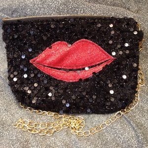 Kissy glitter bag