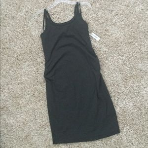 Maternity fitted tank dress