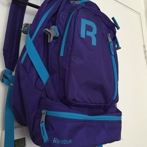 Reebok Handbags - Reebok Backpack Purple & Teal