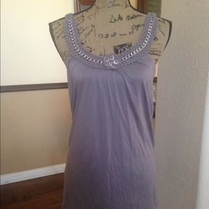 BCBGM Top, Cinder/Silver. New w/tags