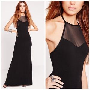 Missguided Dresses & Skirts - NWT Missguided Halter Mesh Maxi