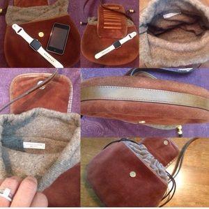 Suede Saddle bag WINTER BAG vintage