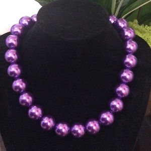 Jewelry - Glass pearl beads 14-16mm choker