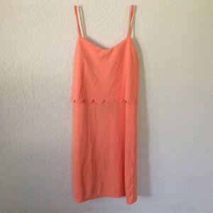 ASOS Dresses & Skirts - NWT Asos Coral orange Scallop Slip Pencil Dress