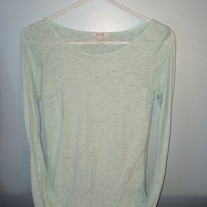 Long sleeve mint green shirt