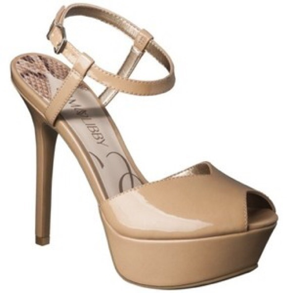 9481e38cab97 Sam & Libby Shoes | Sam Libby Margot Peep Toe Platform Heel In Nude ...